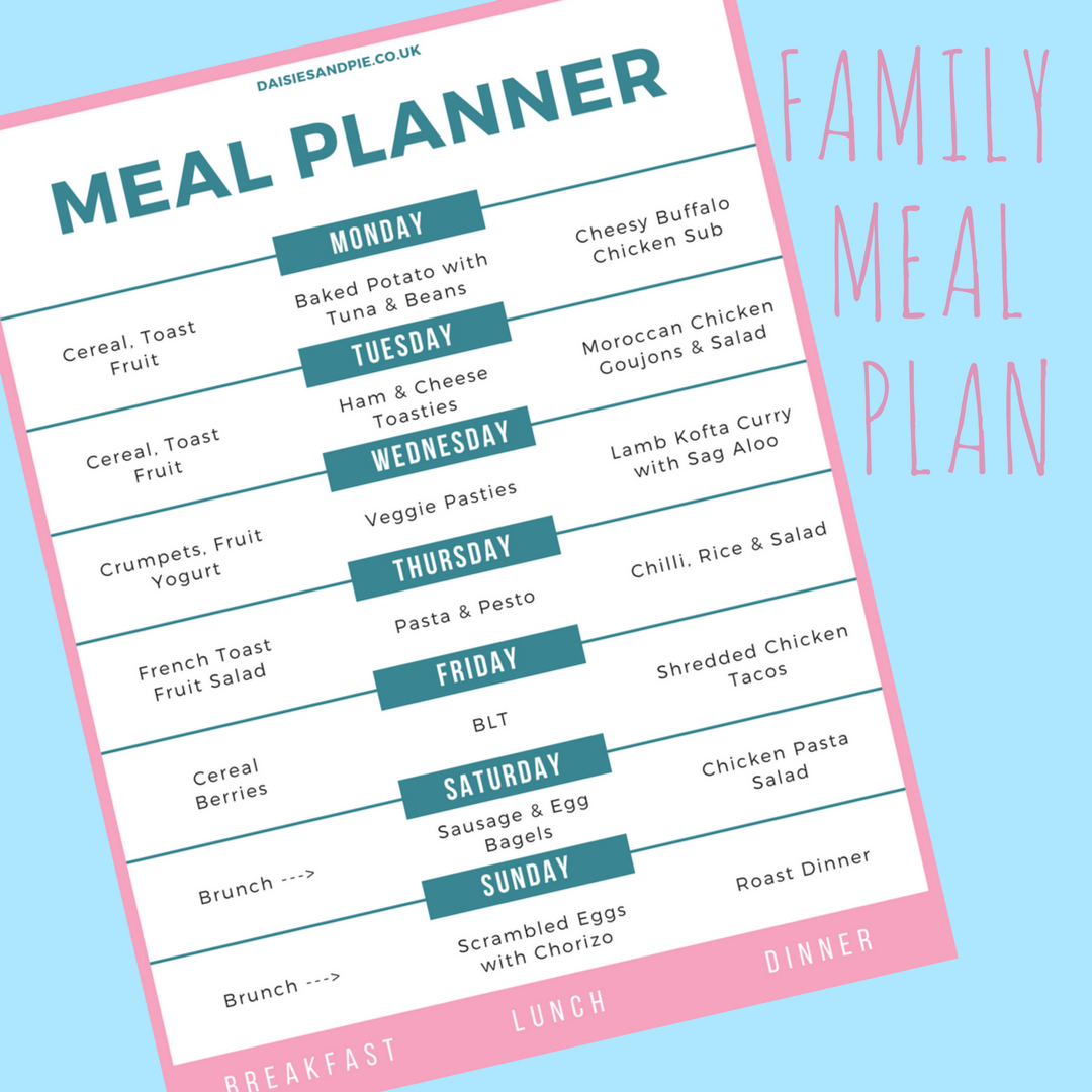 Family meal plan, easy family recipes, meal planning tips