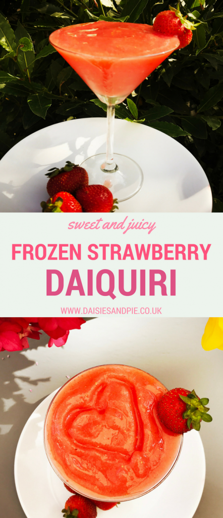 Frozen strawberry daiquiri recipes, summer party drinks recipes, frozen cocktails