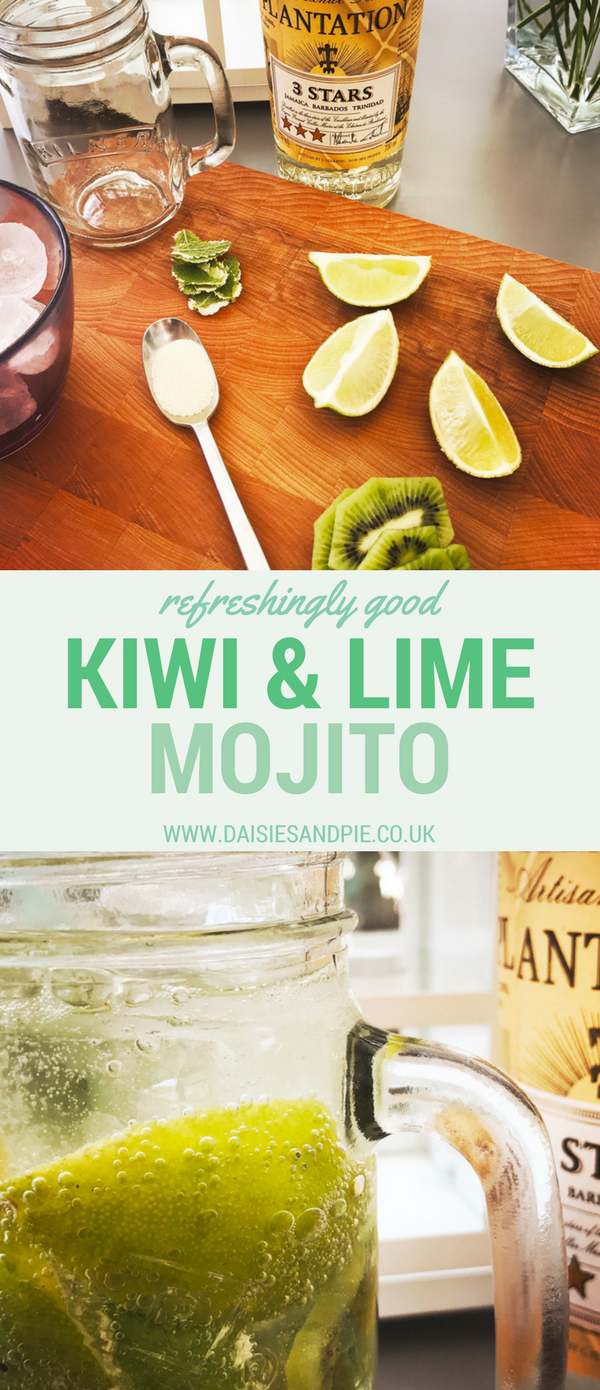 Kiwi and Lime Mojito, Summery Mojito Recipe, Easy Cocktail Recipes