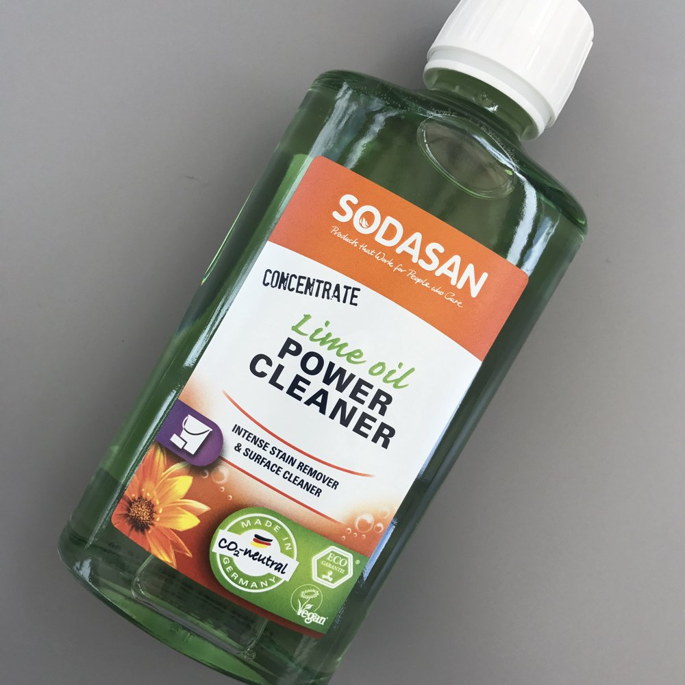 Sodasan Lime Oil Power Cleaner – an amazing stain removal product!