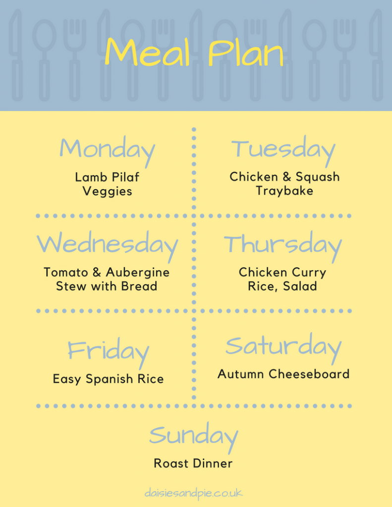 Weekly family meal plan filled with delicious easy to make family dinner recipes, homemaking tips