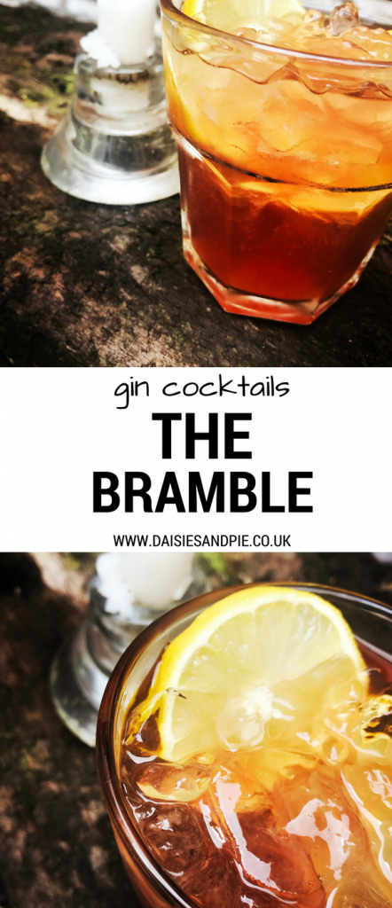 The Bramble cocktail, pink gin cocktail recipe, gin party cocktail recipes