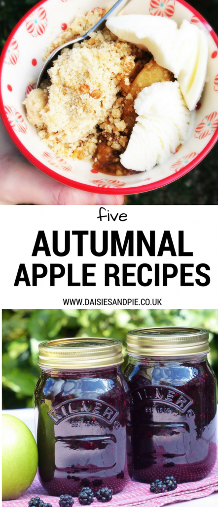 Five autumnal apple recipes, beautiful tasty seasonal apple recipes, from how to make toffee apple crumble to throwing together a simple apple and blackberry jam