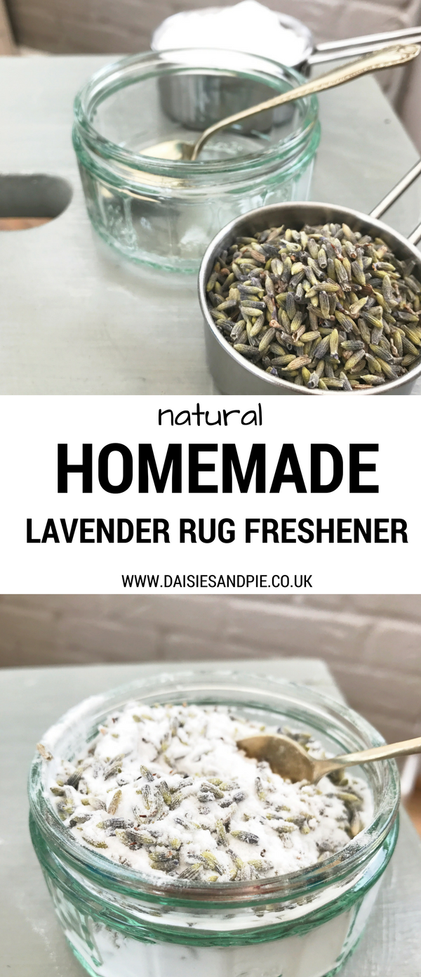 How to make homemade natural rug freshener with lavender, green home cleaning recipes, lavender carpet freshener that really works, homemaking tips