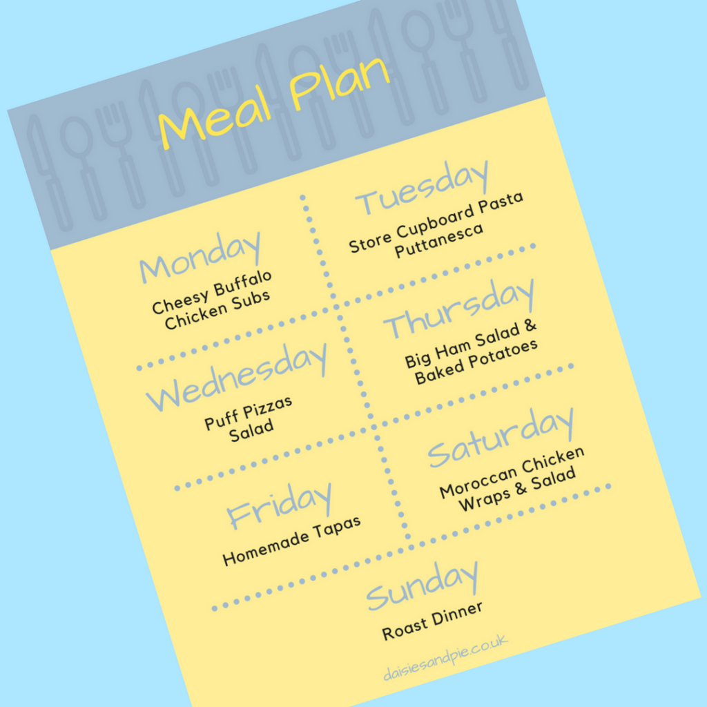 Weekly family meal plan filled with easy family dinner recipes