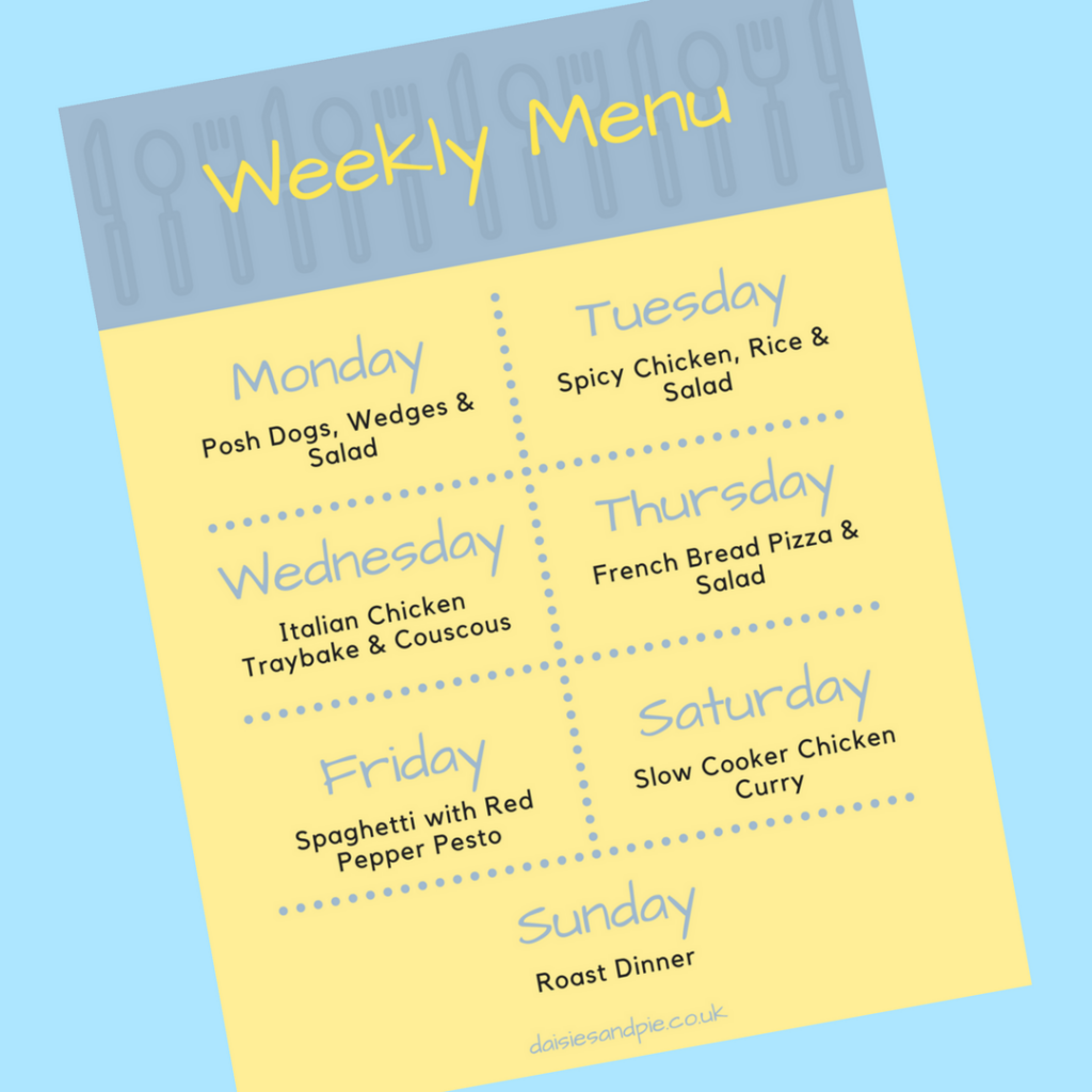 weekly family meal plan, easy family dinner recipes