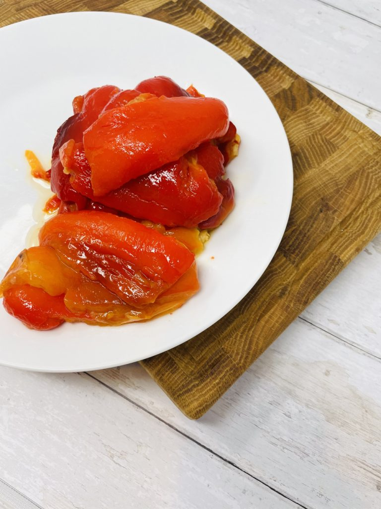 roasted red pepper with skins removed