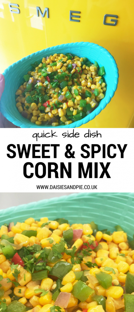 Sweet and spicy maple sweetcorn salsa, easy veggie side dish, BBQ sides§
