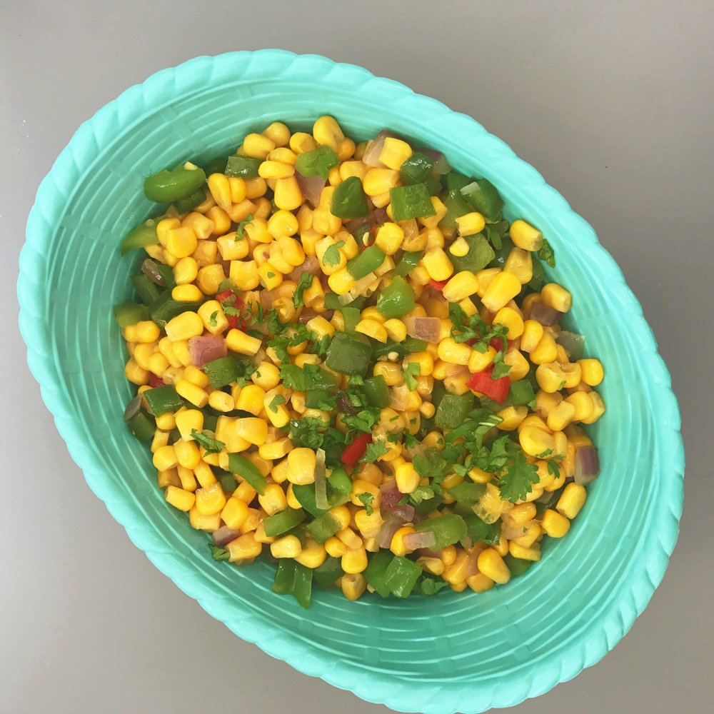Sweet and spicy sweetcorn side dish, easy BBQ sides, summer veg recipes