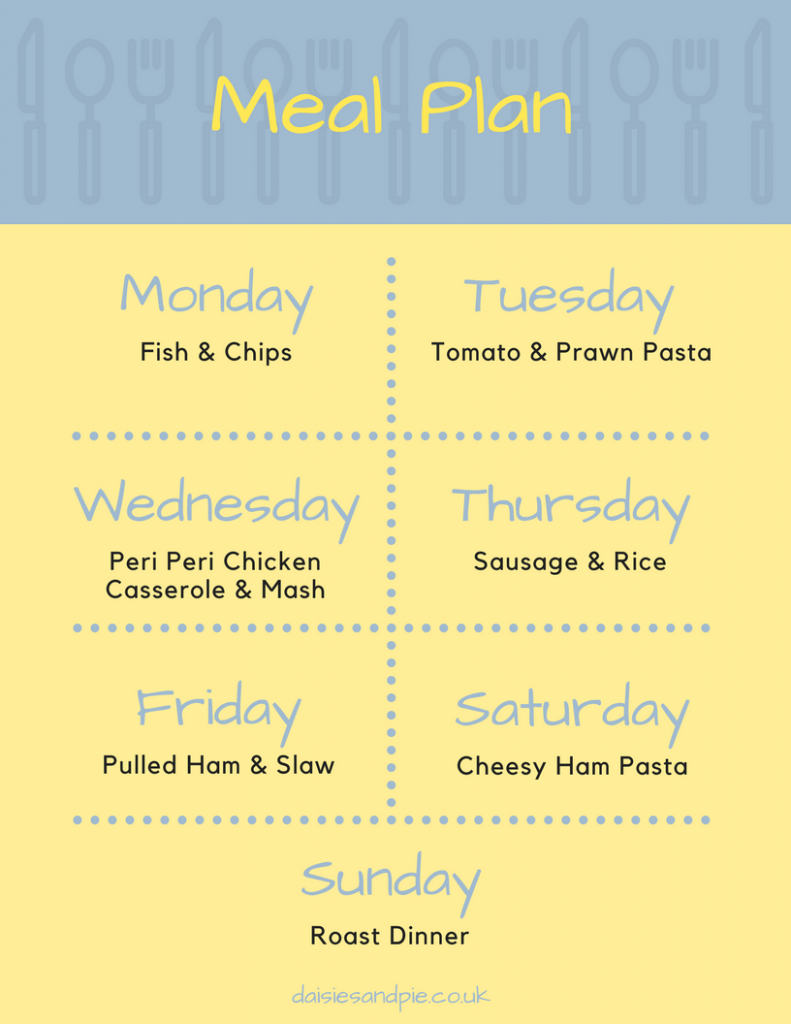 Easy Family Meal Plan filled with delicious easy to make family dinner recipes, homemaking tips, printable meal plan