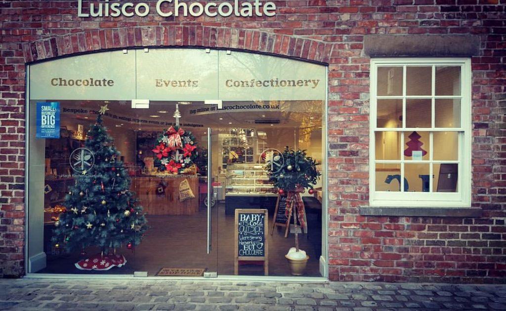 Luisco Chocolate Shop at Haigh Kitchen Courtyard Haigh Woodland Park, artisan chocolate shop manchester, artisan chocolate shop North West