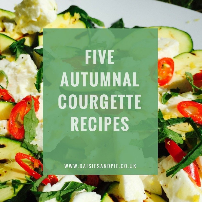 five autumnal courgette recipes