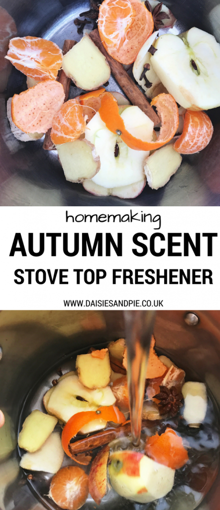 How to make your own autumn scented stove top air freshener, that will fill your home with delicious scent, homemaking tips