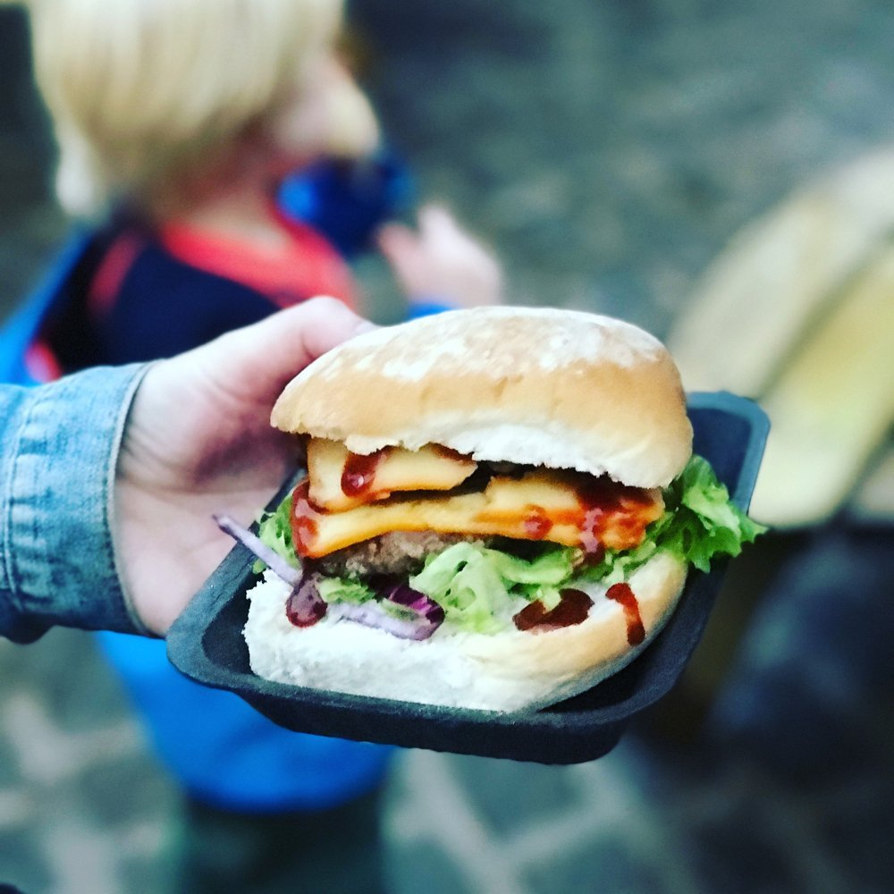 Cook and Foragers burger at Haigh Foodie Friday, Food Festivals North West, Free Range Meat, Grass Fed Beef, Loaded Burgers