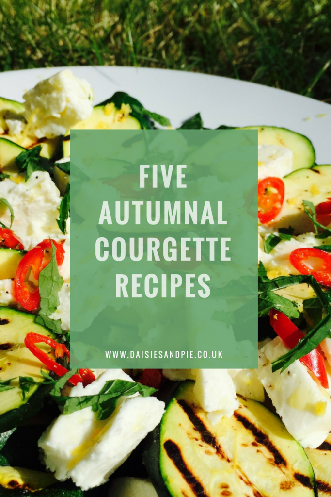 Five delicious autumnal courgette recipes, courgette recipes for using up a glut of courgettes, autumn recipes