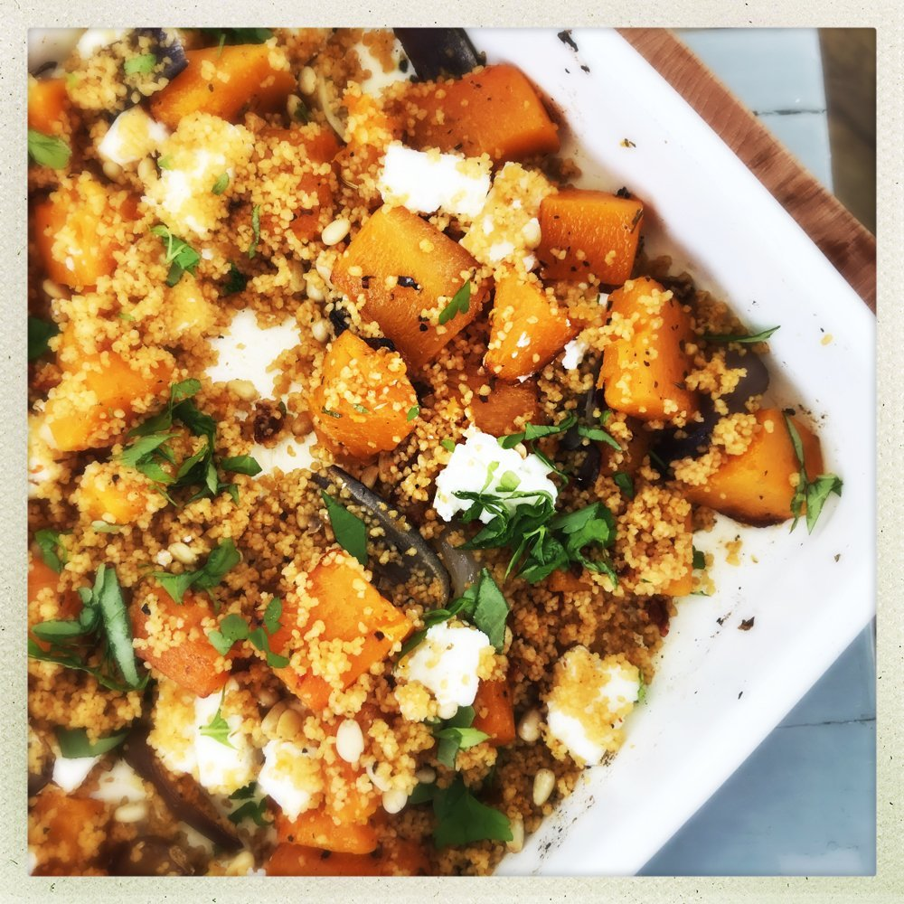 Roast Squash and Feta Couscous