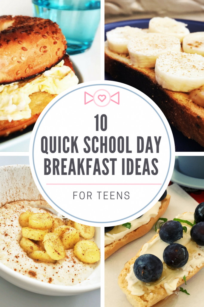 10 really quick breakfast ideas for teens, your teens will concentrate loads better at school if they eat breakfast and all of these recipes can be ready in less than 5 minutes, easy family food