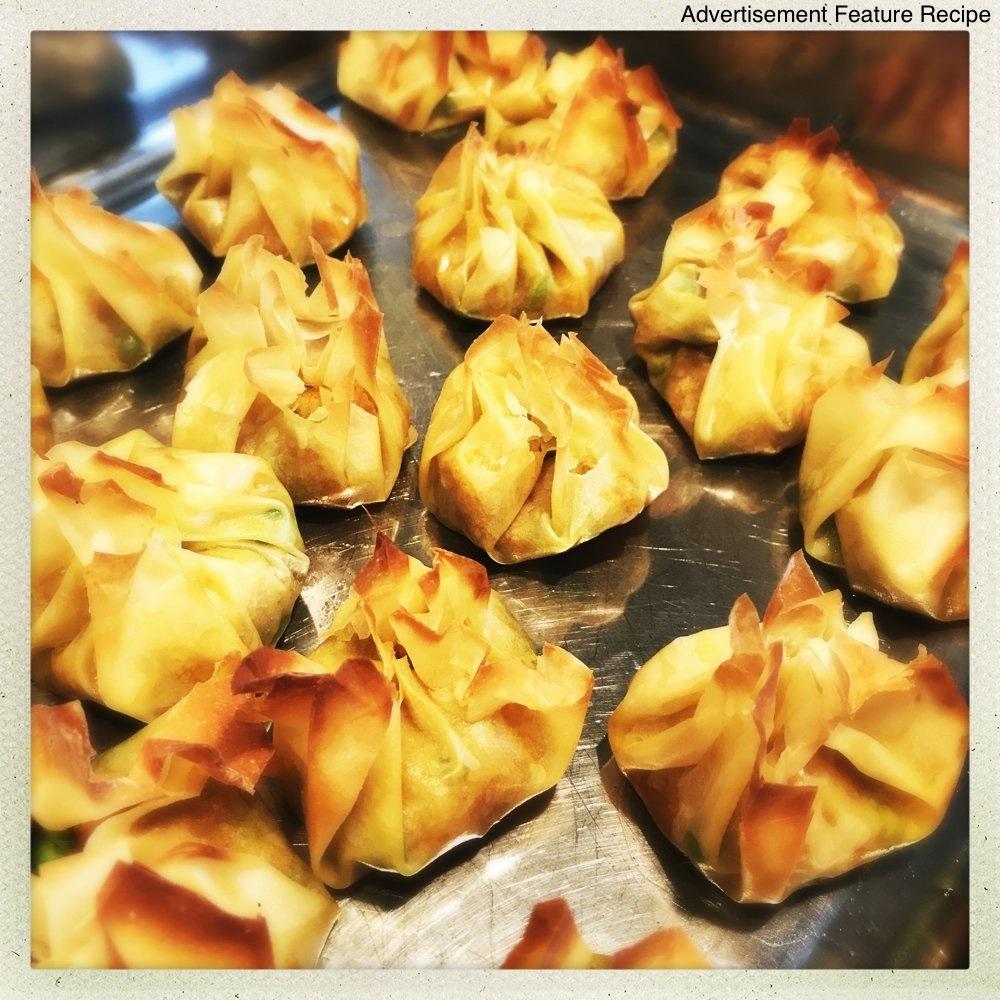 samosa bites fresh from the oven