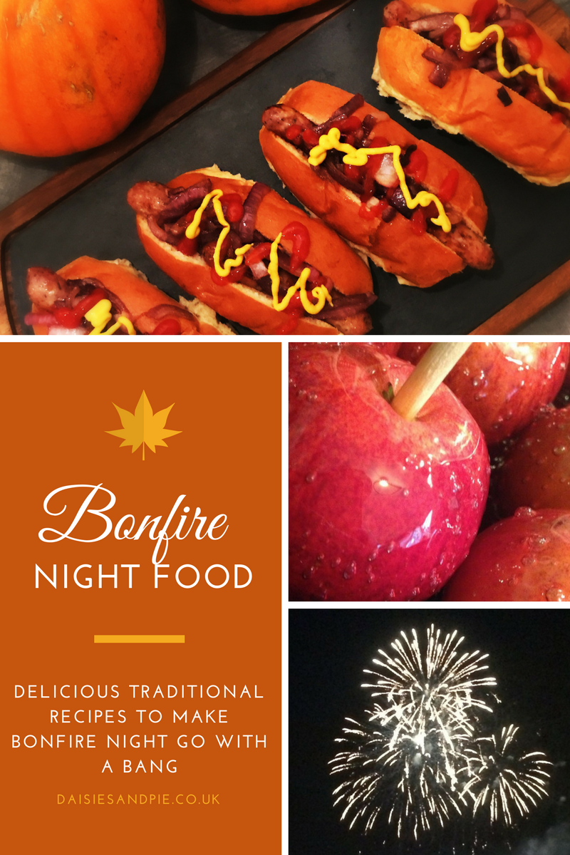 Traditional bonfire night foods for a proper old style Guy Fawkes feast, bonfire party ideas, easy party food