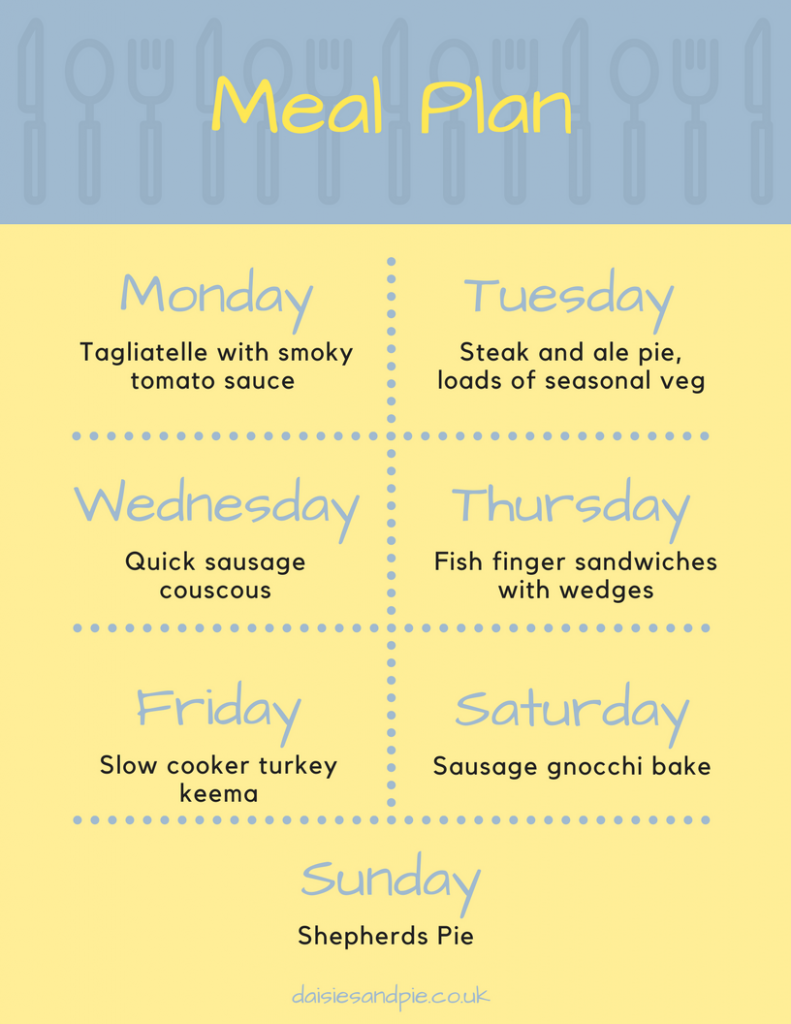 Weekly family meal plan filled with delicious easy family dinner recipes, meal planning tips, autumn dinner ideas, homemaking tips