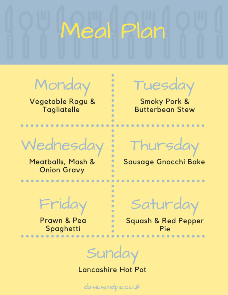 A weekly family meal plan filled with easy to make delicious family dinner recipes, autumn meal plan, family dinner recipes