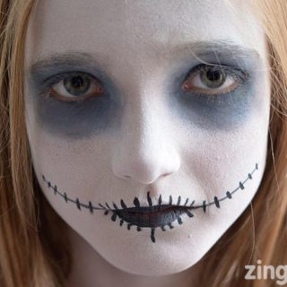 Ghoul Halloween face paint tutorial, Halloween face paint ideas for kids