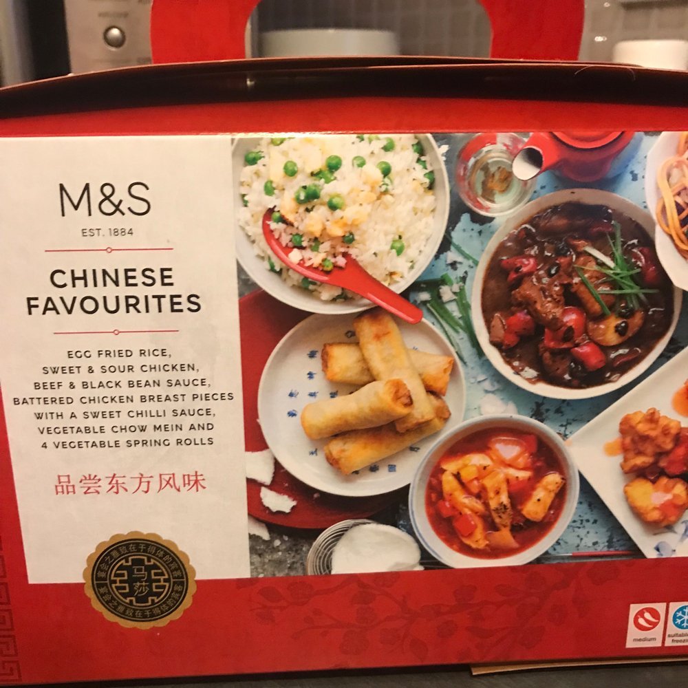 M&S Chinese take away box, family food tried and tasted