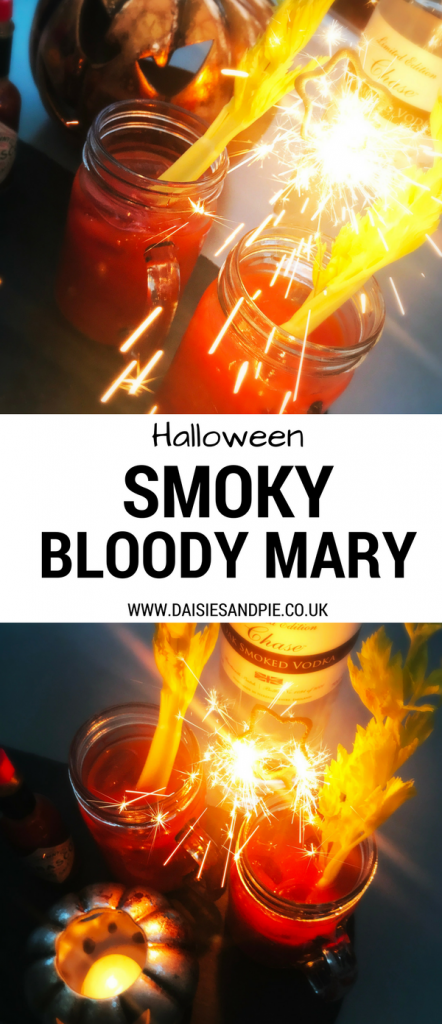 The perfect Halloween Cocktail, Smoky Bloody Mary made with amazing oak smoked vodka, Chase Oak Smoked Vodka, Halloween Cocktail Recipes