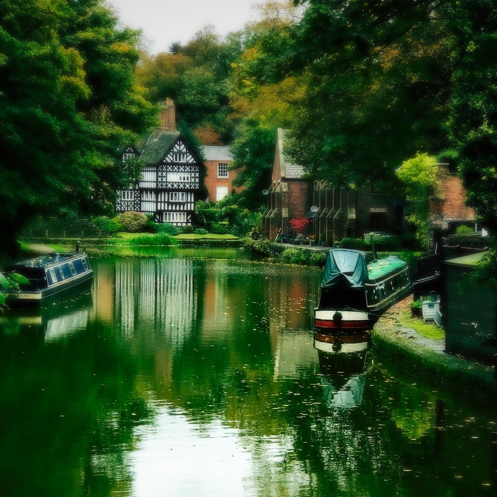 Worsley Village in Salford Manchester, Worsley Canal Manchester