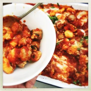 Utterly delicious comfort food recipe, sausage gnocchi bake, easy sausage recipe, easy family recipes