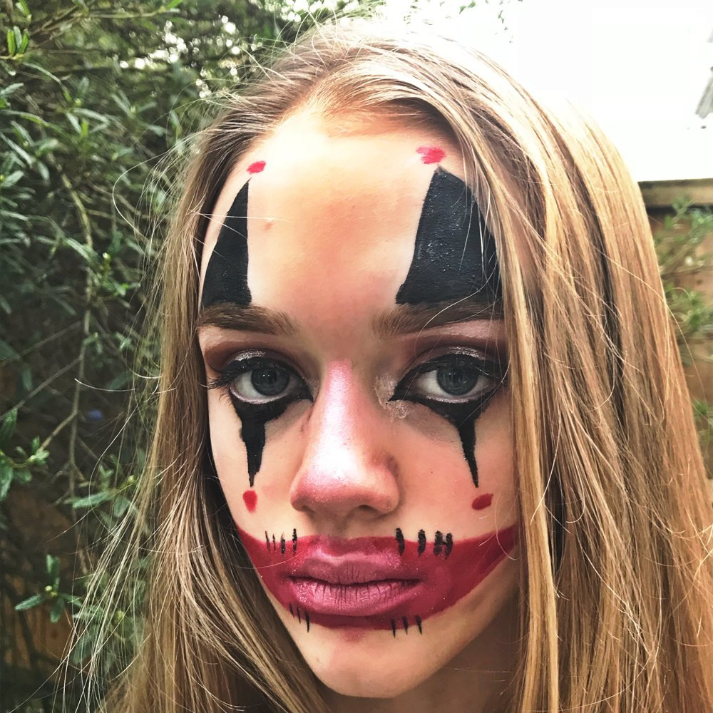 evil clown halloween face paint evil clown make up for halloween evil clown face