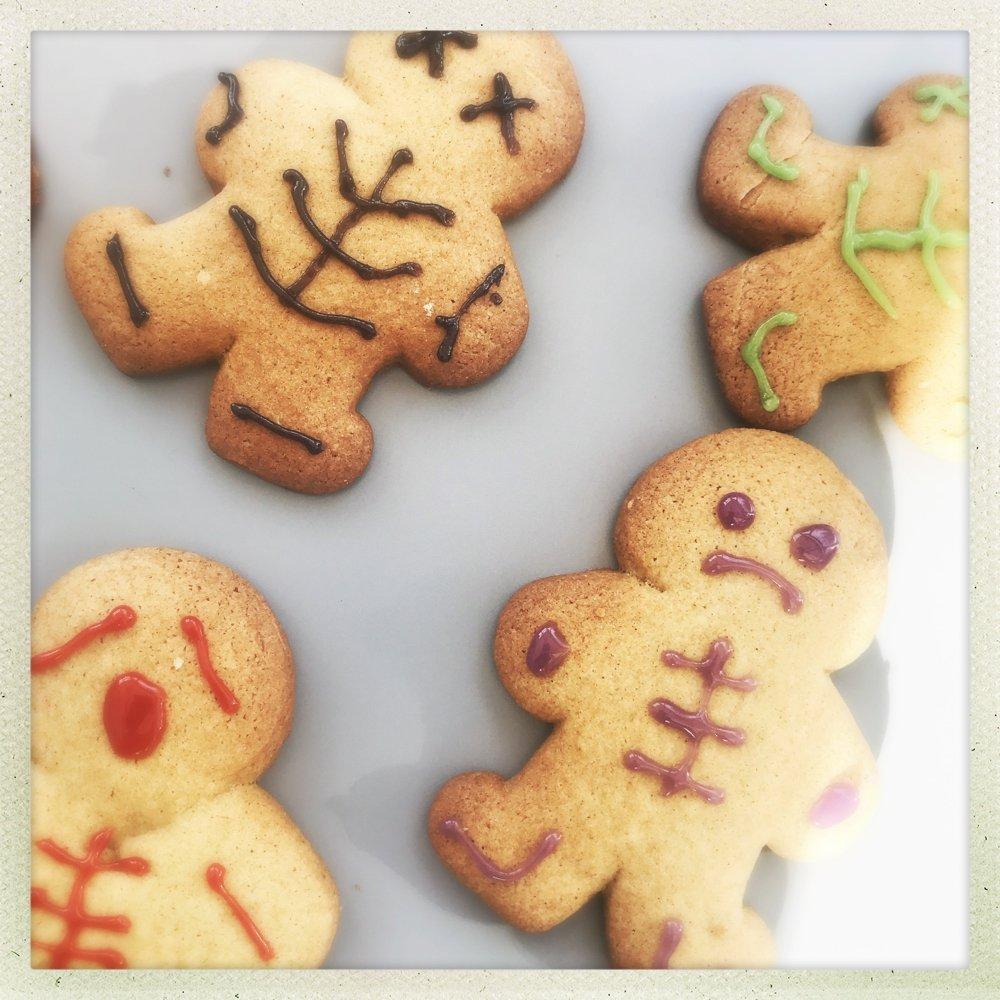 Halloween Gingerbread Men