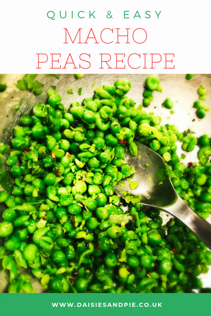"macho peas. Text ""quick and easy macho pea recipe"""