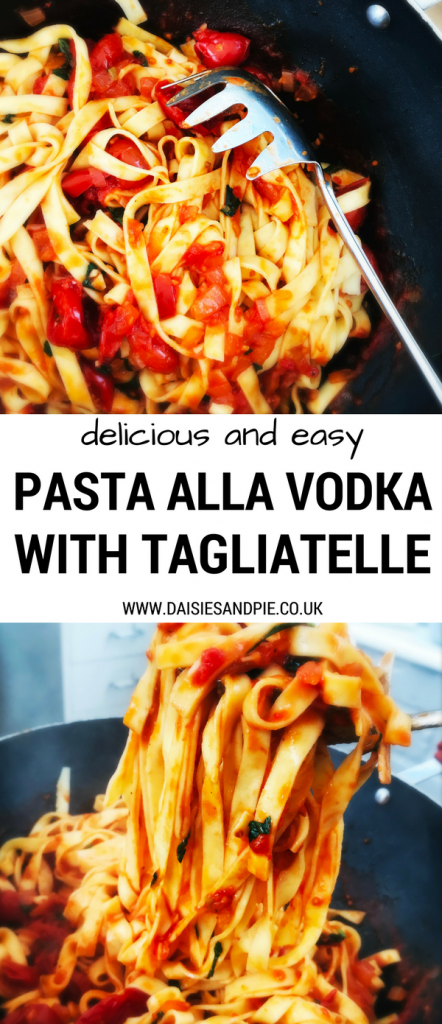 Pasta alla Vodka recipe, delicious smoky version of the classic tomato vodka sauce, perfect autumn dinner, Italian comfort food,