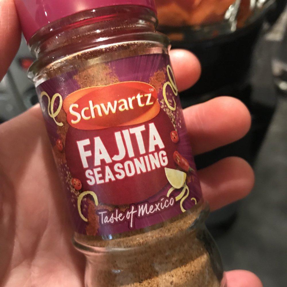 Schwartz fajita seasoning, family food tried and tasted