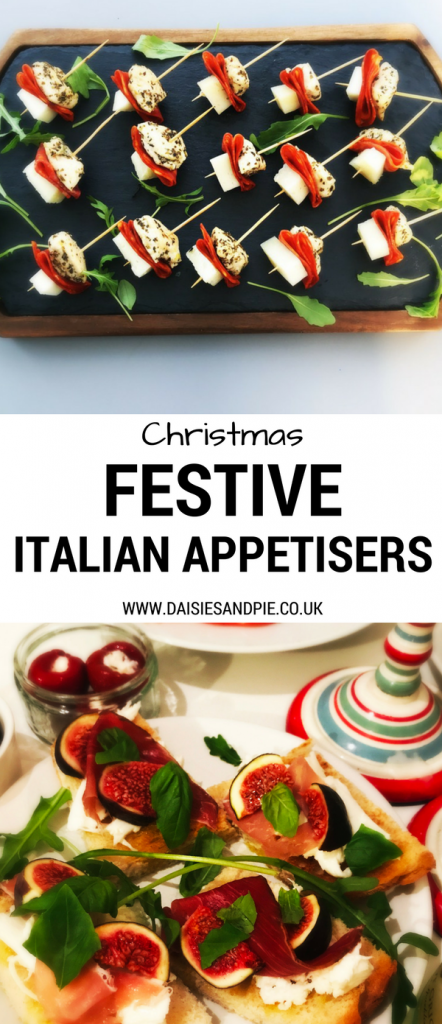 Christmas party food recipes - festive Italian appetisers, heathy Christmas recipes