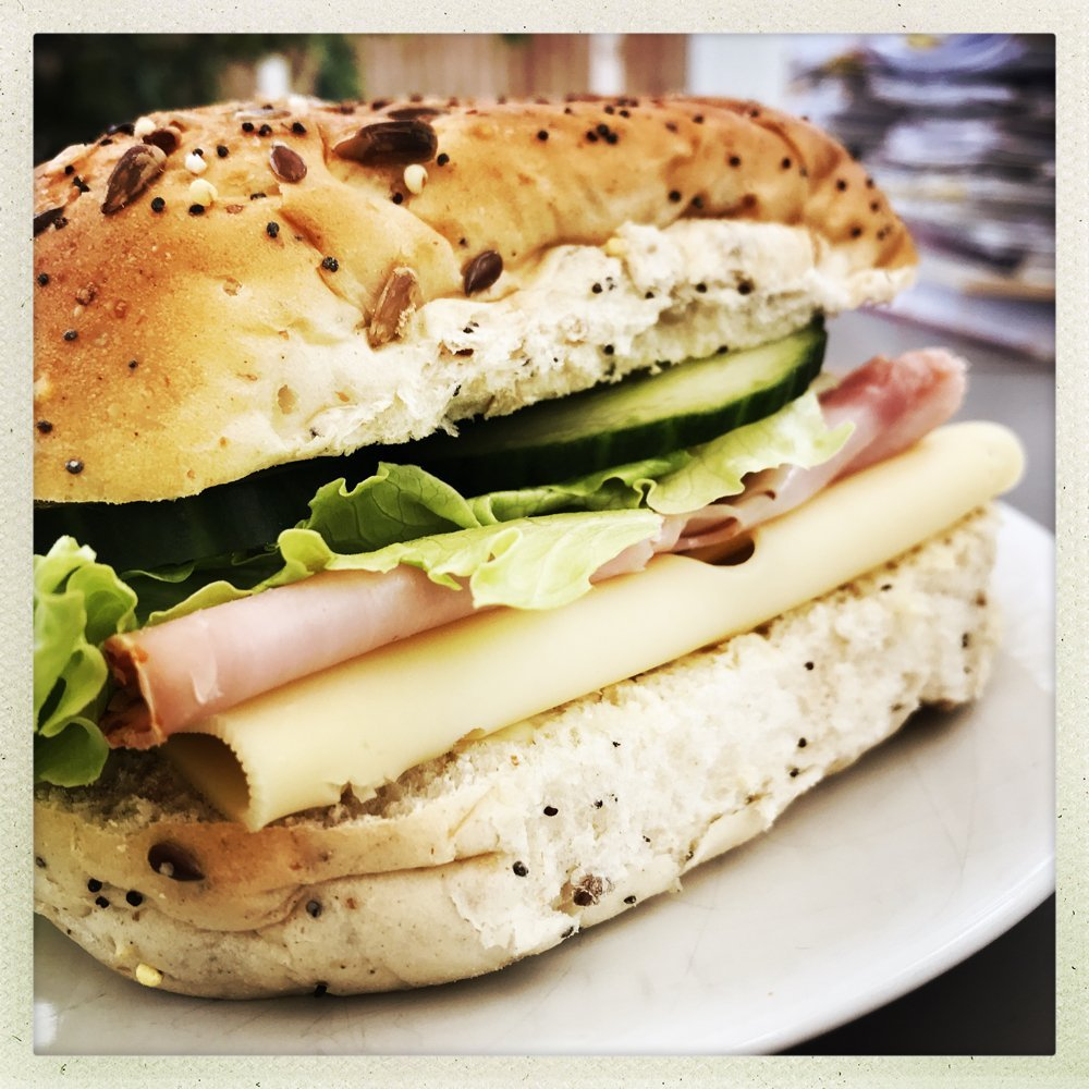 Super tasty classic ham and cheese sandwich plus a nifty tip to stop the bread going soggy if you're packing for lunch,