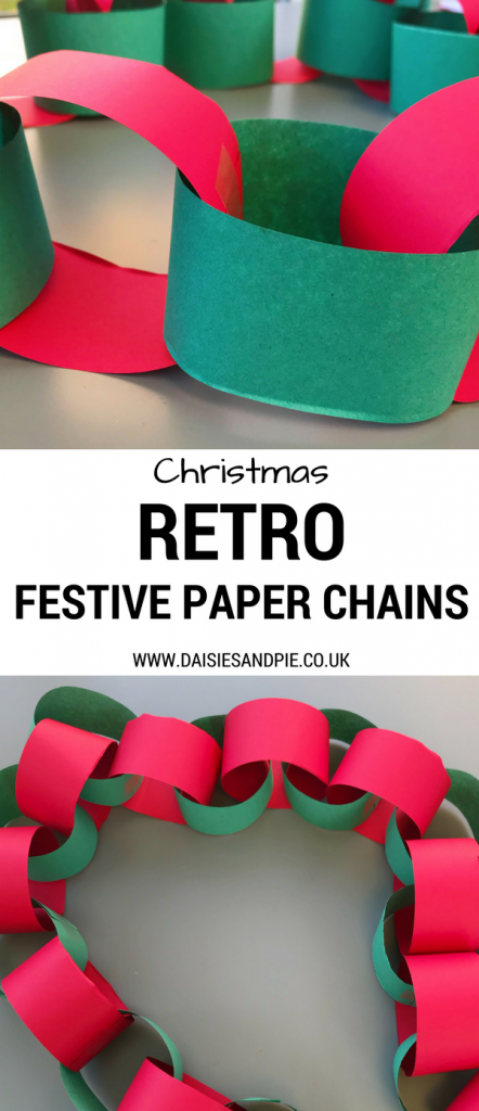 how to make paper chains retro homemade christmas decorations kids christmas crafts - Christmas Chain Decorations