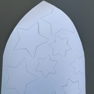 Frosty star stained glass window craft instructions