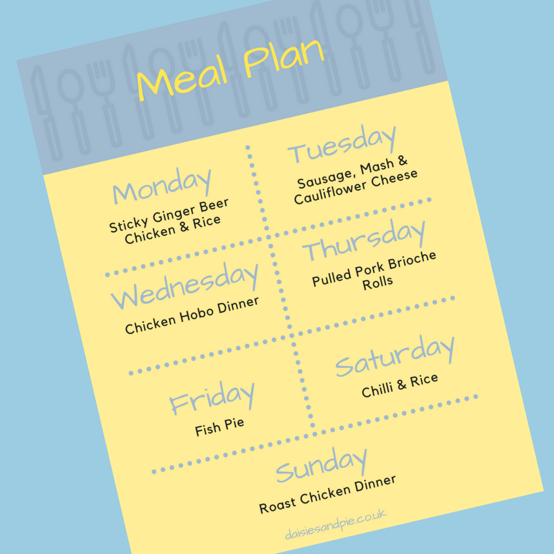 weekly family meal plan, meal planning tips, printable meal plan