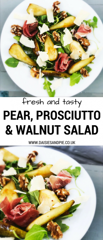 Pear Prosciutto and Walnut salad, Italian salad recipes, light Italian recipes