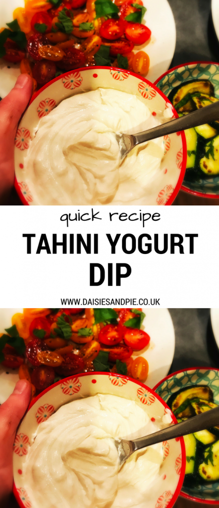 Delicious tahini yogurt dip, flavoursome dip recipe perfect for parties, healthy dip recipes