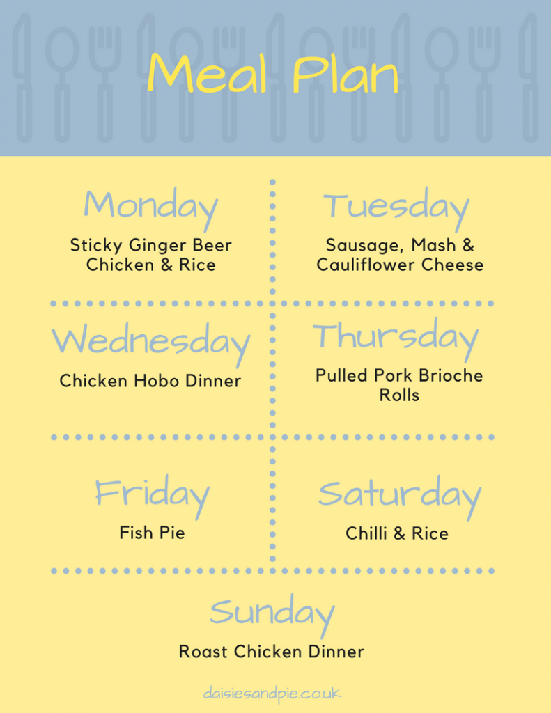 Weekly family meal plan, easy family dinner recipes perfect for winter dinner