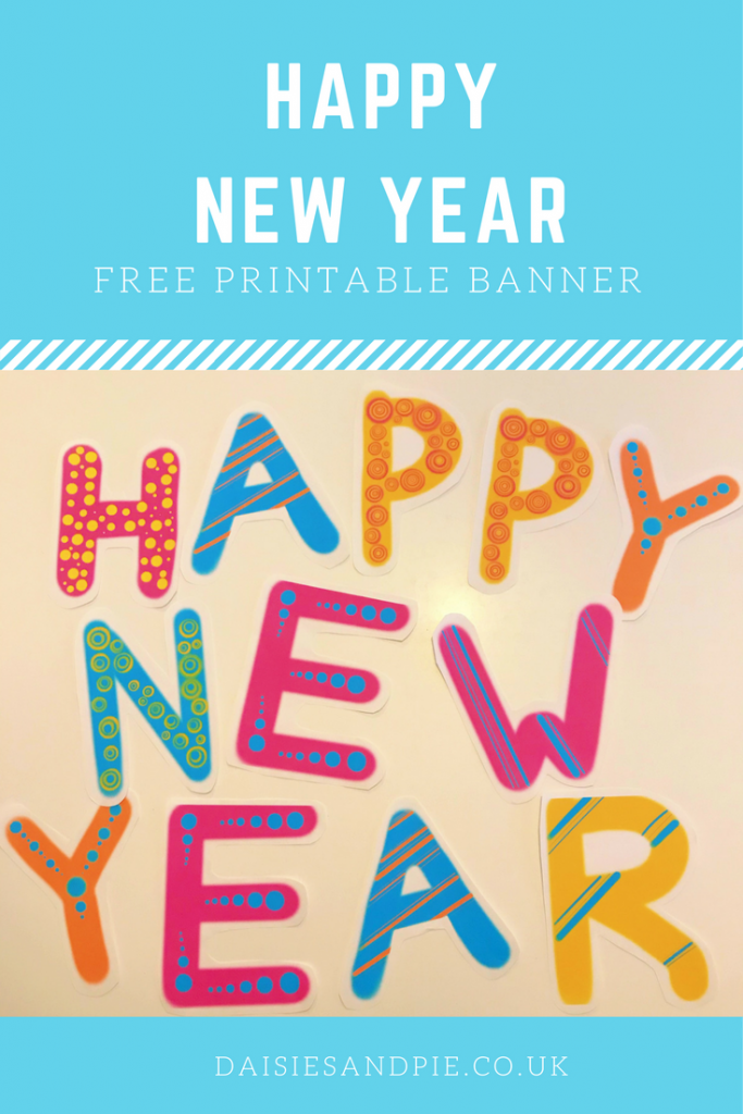 gorgeous bright free printable happy new year banner