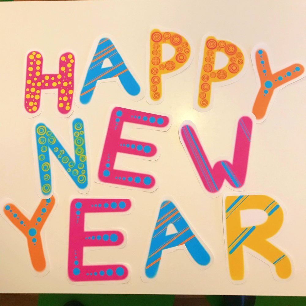 Free Printable Happy New Year Banner,