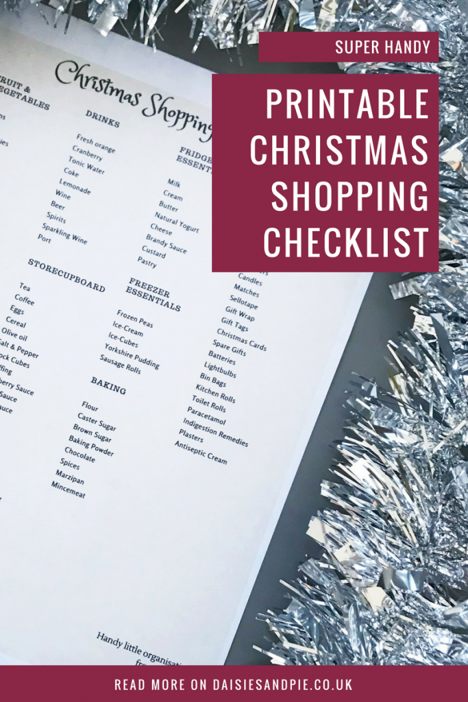 Printable Christmas shopping checklist for a foolproof Christmas, Christmas organisation tips