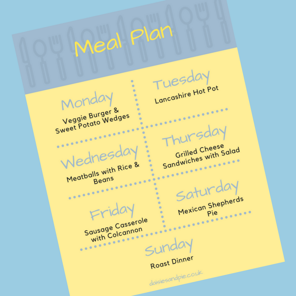 Weekly family meal plan filled with delicious easy to make family dinner recipes