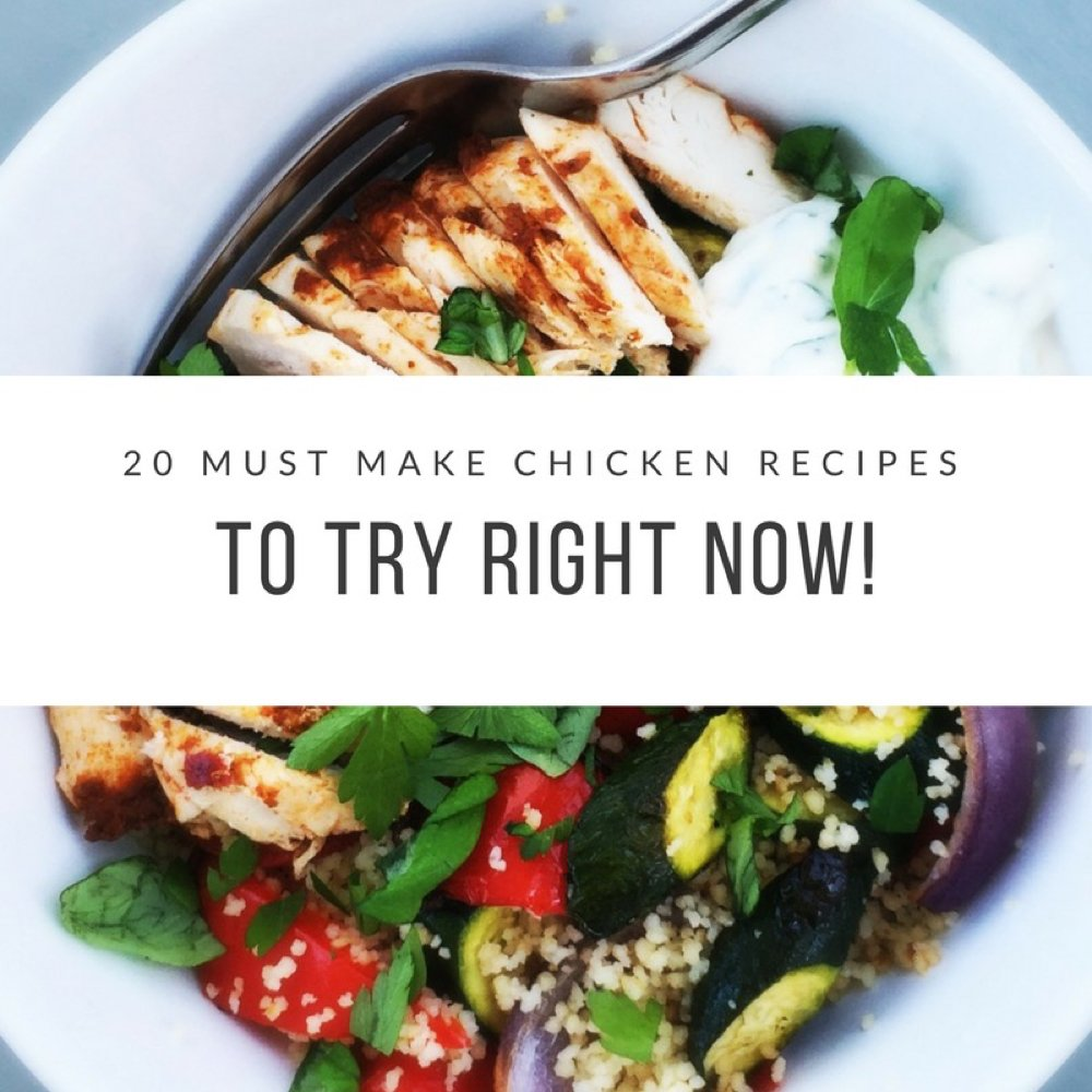 20 must make chicken recipes that are just what your family want for dinner! Easy low fuss chicken recipes that you just must make!