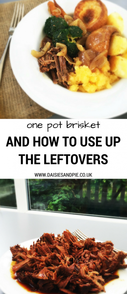 One pot brisket recipe and loads of way to use up the leftovers, easy beef recipes, how to use up leftover roast beef