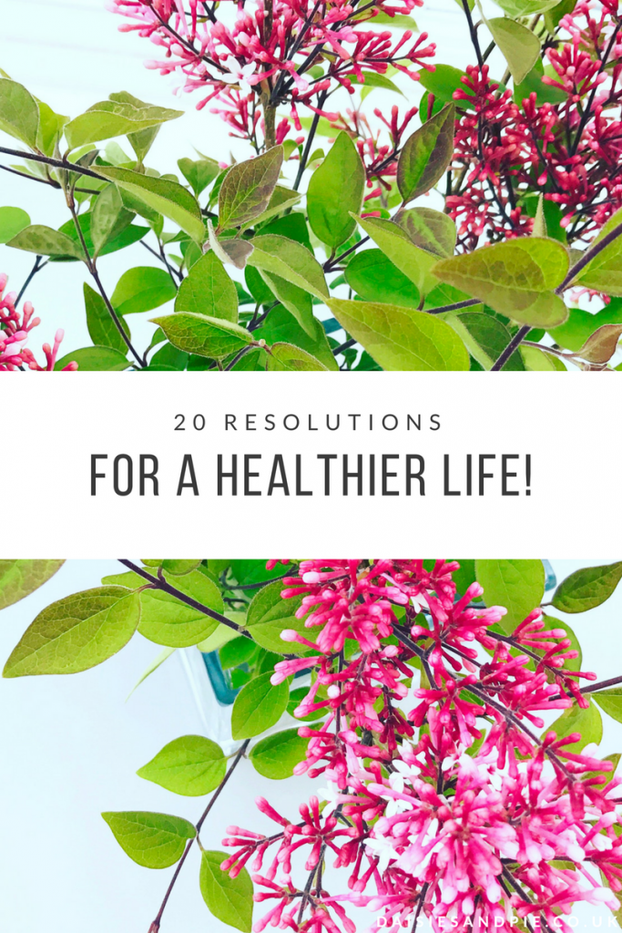 Boosting my health and wellbeing with 20 resolutions to lead a healthier lifestyle.